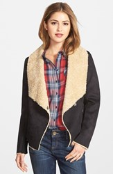 Women's Bernardo Faux Shearling Waterfall Jacket