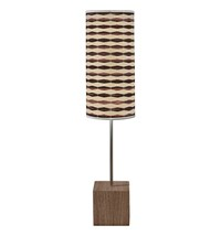 Jefdesigns Weave 4 Cuboid Table Lamp Light Brown
