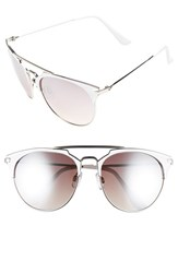 Women's Bp. Retro Sunglasses White Silver