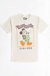 Urban Outfitters Mickey Mouse Kanji Tee Cream