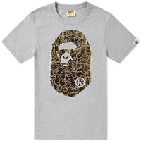 A Bathing Ape Foil Neon Camo Big Head Tee Grey