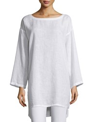 Eileen Fisher Organic Linen Long Tunic Women's White