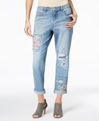 Styleandco. Style Co Patched Boyfriend Jeans Created For Macy's Holy Smoke