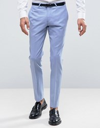 Noose And Monkey Super Skinny Wedding Suit Trousers Cornflower Blue