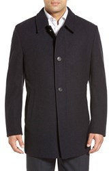 Men's Corneliani Classic Fit Wool And Cashmere Overcoat Charcoal