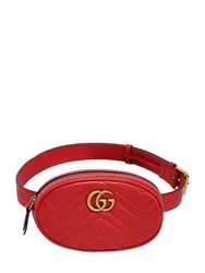 Gucci Gg Marmont 2.0 Leather Belt Bag Red