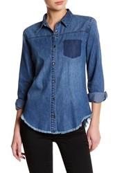 Joe's Jeans Dinna Button Up Shirt Blue
