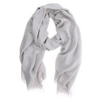 Mint Velvet Dove Foil Textured Scarf Grey
