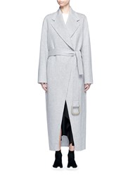 Acne Studios 'Lova' Belted Long Wool Cashmere Felt Coat Grey