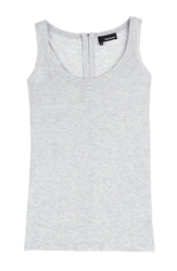 The Kooples Jersey Tank With Zipped Back