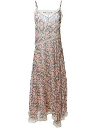 P.A.R.O.S.H. Floral Print Dress Nude And Neutrals