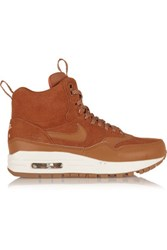 Nike Air Max 1 Suede And Leather High Top Sneakers Tan