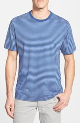 Men's Vineyard Vines Stripe Pima Cotton T Shirt Summer Evening Blue