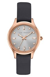 Ted Baker Women's London 'Dress Sport' Multifunction Leather Strap Watch 32Mm