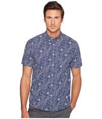 Penfield Cuyler Line Leaf Short Sleeve Shirt Blue Men's Short Sleeve Pullover
