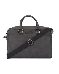Tommy Hilfiger Charcoal Pu Briefcase Grey