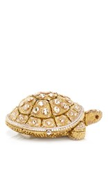 Judith Leiber Couture Fortune Turtle Clutch Gold