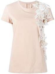 N 21 No21 Floral Embellished T Shirt Nude Neutrals