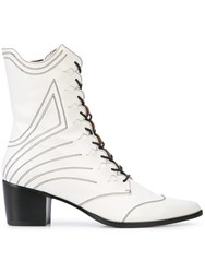 Tabitha Simmons Swing Boots White
