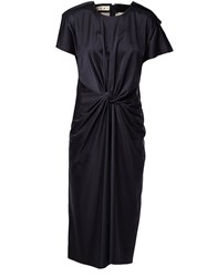 Marni Draped Dress Blue