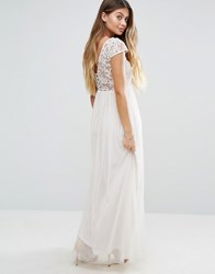 Vila Off Shoulder Maxi Dress Moonbeam Cream