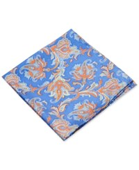 Club Room Paisley Pocket Square Only At Macy's Blue