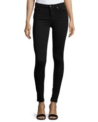 7 For All Mankind High Waist Skinny Jeans Slim Illusion Luxe Black