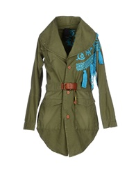 People Full Length Jackets Military Green
