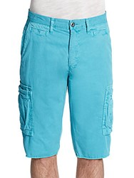Original Paperbacks Houston Slim Fit Corduroy Cargo Shorts Aqua