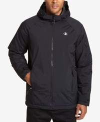 Champion Men's Big And Tall Tech Hooded Snowboard Jacket Black
