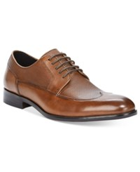 Alfani Men's Reese Textured Wingtip Oxfords Only At Macy's Men's Shoes Brown