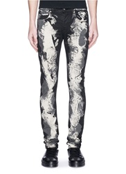 Mcq By Alexander Mcqueen Heavy Bleach Skinny Jeans Black
