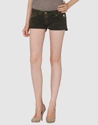 Hollywood Milano Denim Shorts Dark Green