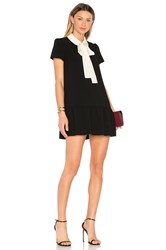 Red Valentino Tie Neck Shift Dress Pink