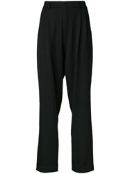 Bassike Pleated Front Pants Black
