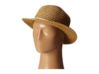 San Diego Hat Company Ubm4448 Ultrabraid Boater W Twisted Rope And Gold Chain Trim Natural Caps Beige