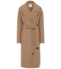 Tod's Cashmere And Camel Hair Coat Beige