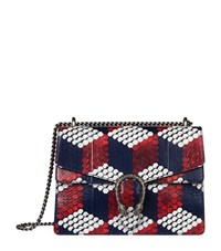 Gucci Dionysus Cubic Python Shoulder Bag Female Red White