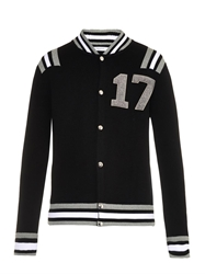 Givenchy 17 Varsity Wool Cardigan