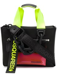 Dsquared2 Multi Strap Small Tote Black