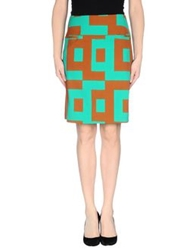 Laura Urbinati Knee Length Skirts Brown