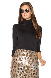 American Vintage Sandy Sky Turtleneck Top Black