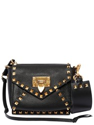 Valentino Garavani Mini Rockstud Hype Grained Leather Bag Black