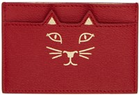Charlotte Olympia Red Feline Card Holder