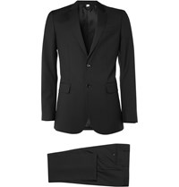 Burberry Slim Fit Wool Suit Black