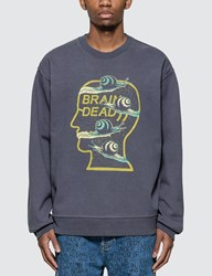Brain Dead Snail Trail Crewneck Blue