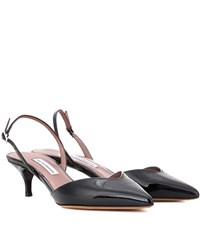 Tabitha Simmons Nev Patent Leather Slingback Pumps Black