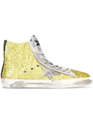 Golden Goose Deluxe Brand 'Francy' Glitter Hi Top Sneakers Green