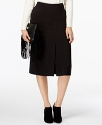 Alfani Prima Front Slit A Line Skirt Only At Macy's Deep Black