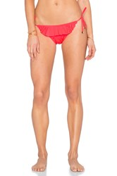 Shoshanna Ruffle String Bikini Bottom Orange